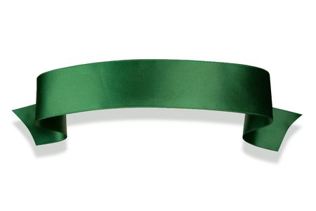 Elegance green ribbon banner with shadow