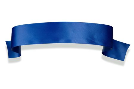 Elegance blue ribbon banner with shadow