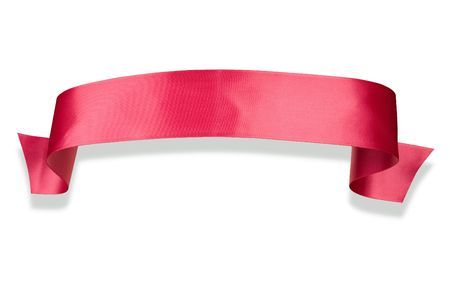Elegance pink ribbon banner with shadow