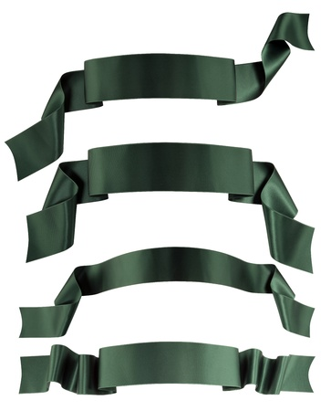 Green ribbon banner collection  Stock Photo
