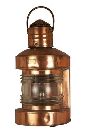 Old brassy ship lantern