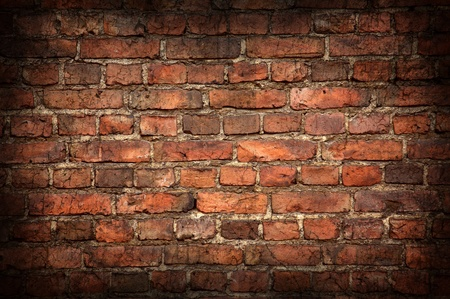 Old brick wall texture with shadow photo