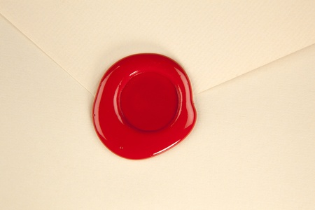 Empty envelope with wax-seal
