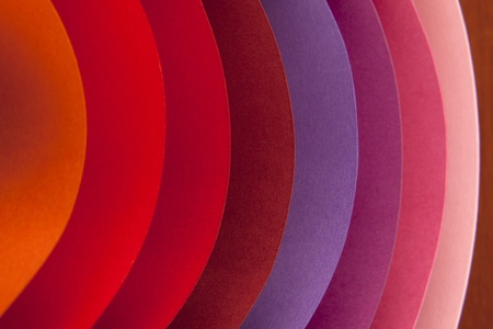 Colorful paper card stock abstract in elliptical shapes.  photo