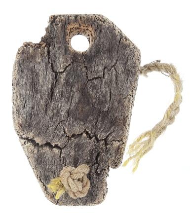 Old fishing net cork on white background Stock Photo - 9394501