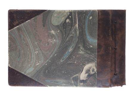 Old photo album isolated on white.  photo