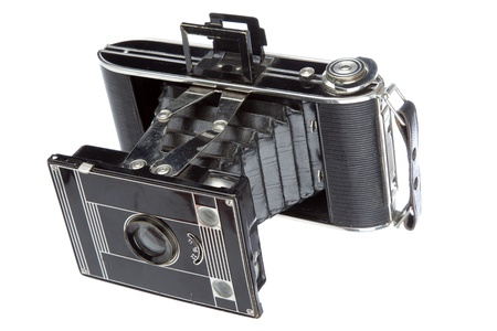 Old camera vintage isolated on a white background  photo