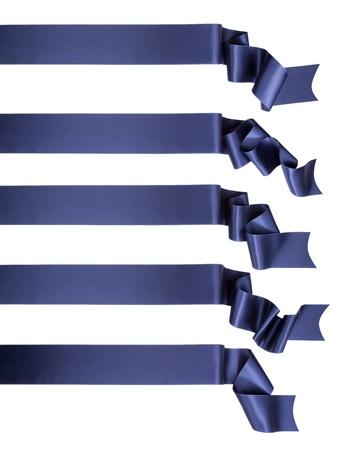 Elegance blue ribbon banner collection