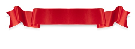 ribbon: Elegance red ribbon banner mit Schatten