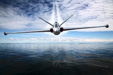 military aircraft: Combat aircraft  Stock Photo