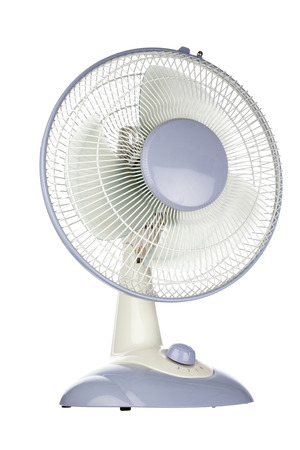 Electric fan  White background