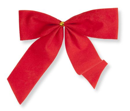 red bow on the isolated white background