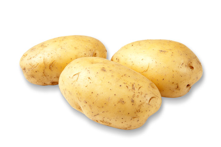 The new potato isolated on a white background