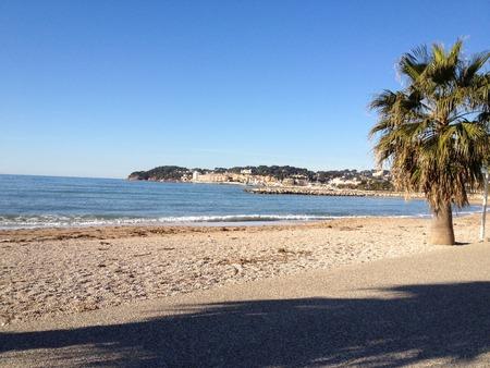 sanary beach on the sea Stock Photo