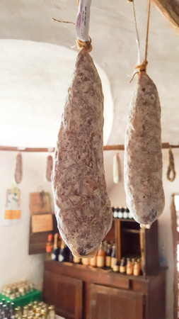 French saucisson sec or dry sausage