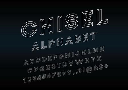Chisel Alphabet Vector Font