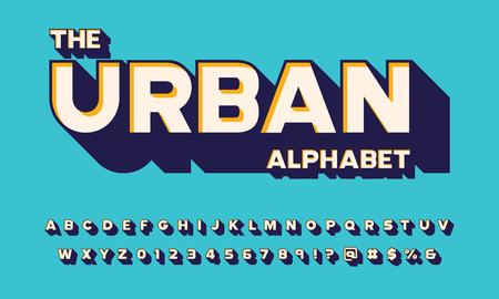 Vector van gedurfd 3D-lettertypeontwerp