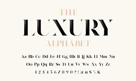Vektor der stilisierten modernen Luxusschrift und des Alphabets