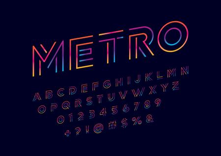 Modern abstract alphabet