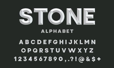 conception de l'alphabet de style ciseau Vecteurs