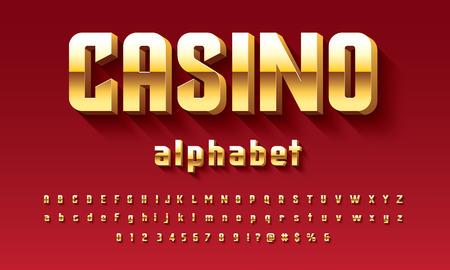 Vector of modern 3D bold alphabet design Illustration