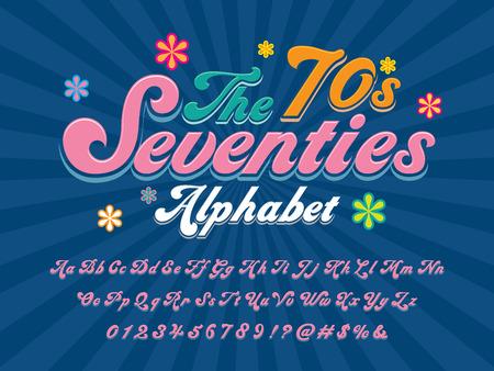 Un diseño de alfabeto de estilo hippie maravilloso