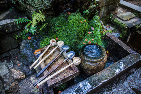 A purification fountain called the chozuya, is where you purify yourself by cleaning your body and mind before visiting the shrine.