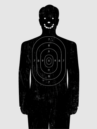 tiro al bersaglio con un foro di proiettile sorridente Vettoriali