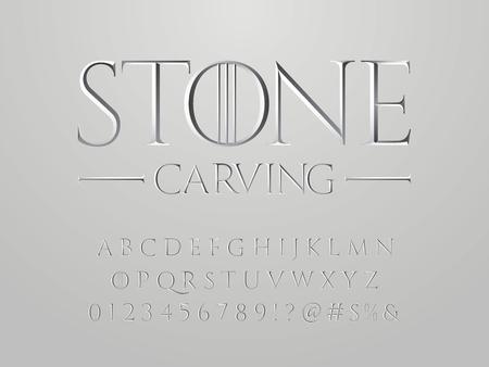 Chisel style vector alphabet design