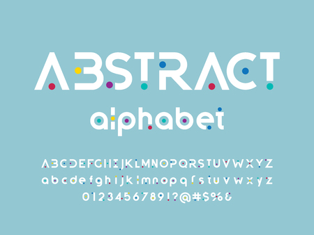 Vector of stylized modern abstract alphabet design