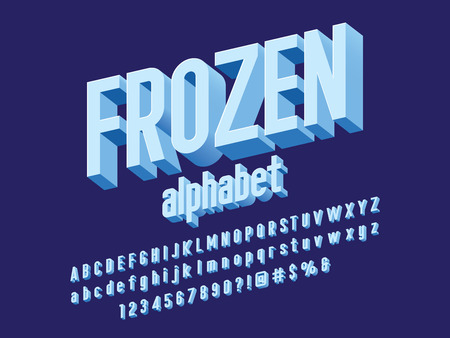 Vector of stylized modern alphabet design