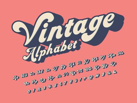 Vector de diseño de alfabeto de estilo hippie maravilloso Ilustración de vector