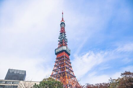 Tokyo, Japan - December 3, 2018: Tokyo Tower is a communications and observation tower, it is the second-tallest structure in Japan. Redakční