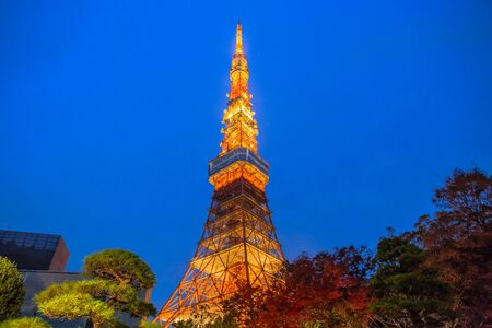 Tokyo, Japan - December 3, 2018: Tokyo Tower is a communications and observation tower, it is the second-tallest structure in Japan. Editorial