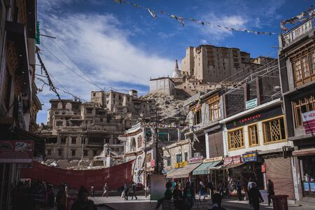 Leh, India - 19 June 2019: Leh is a town in the Leh district of the Indian state of Jammu and Kashmir.