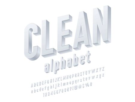 Vector of simple 3D alphabet design