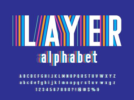 layer Modern colorful stylized alphabet design