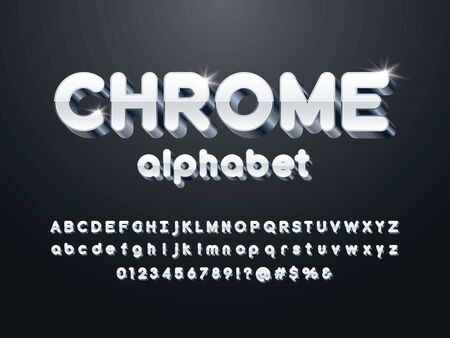 Vector luxury 3D alphabet design