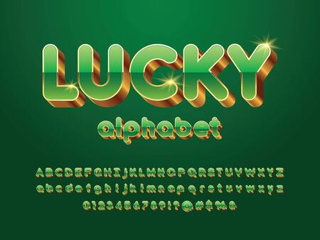 Vector luxury 3D golden alphabet design