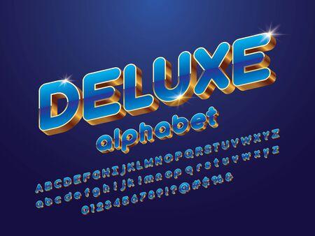 Vector glossy 3D golden alphabet design Stock Vector - 127955653