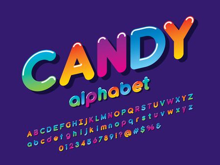 Colorful stylized kids alphabet design Illustration