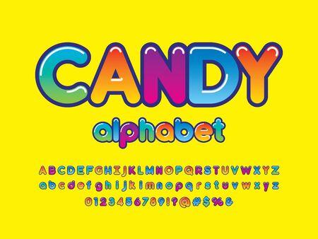 Colorful stylized kids alphabet design Stock Vector - 127955672