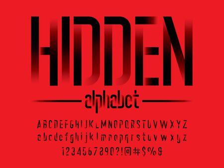 text hidden of modern abstract alphabet design