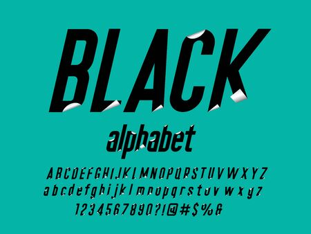 Paper folding sticky note style alphabet design Stock Vector - 127955693