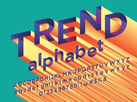 trend colorful 3D stylized alphabet design