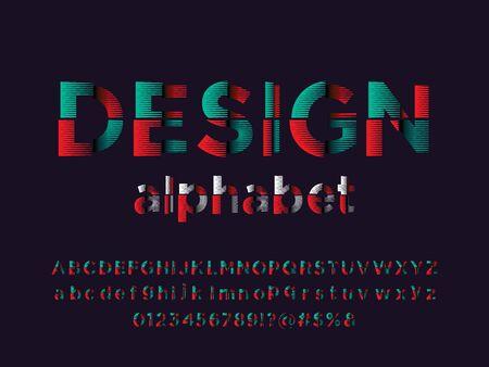 design text of modern abstract alphabet