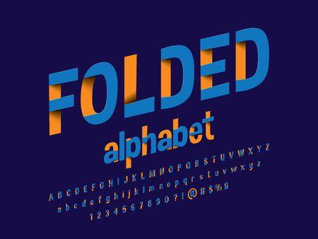 Paper folding origami style alphabet design