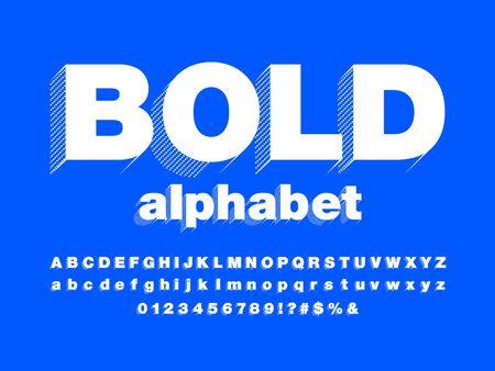 bold text of stylized modern bold alphabet design