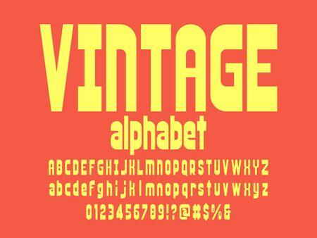 Vector of stylized retro alphabet design