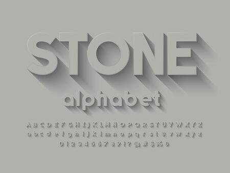 Vector of long shadow alphabet design
